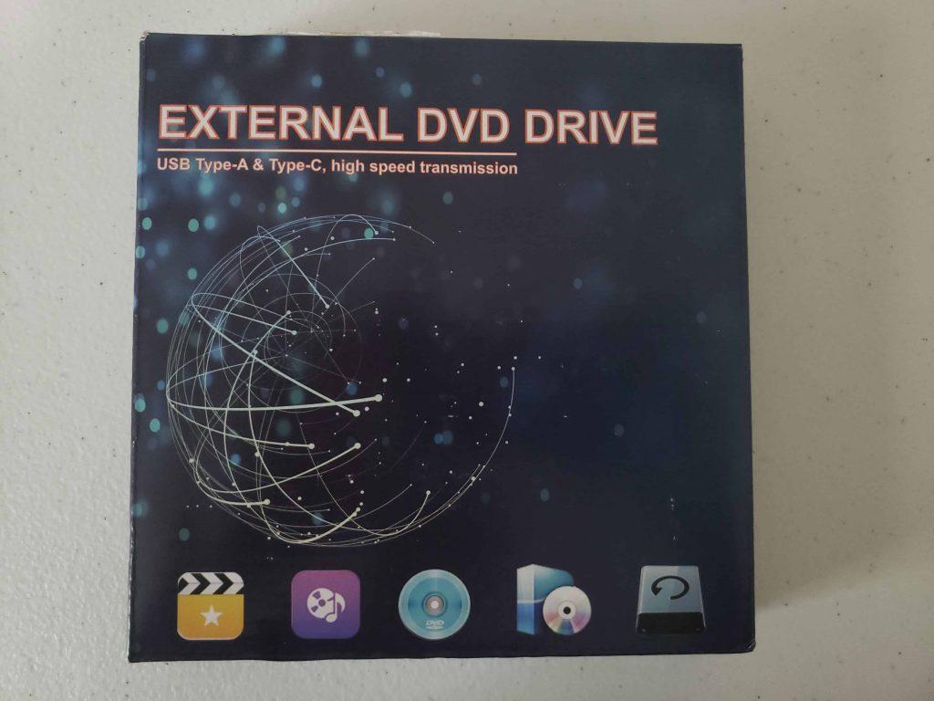 M Way External DVD Drive - Colorful Flame Pattern - 1