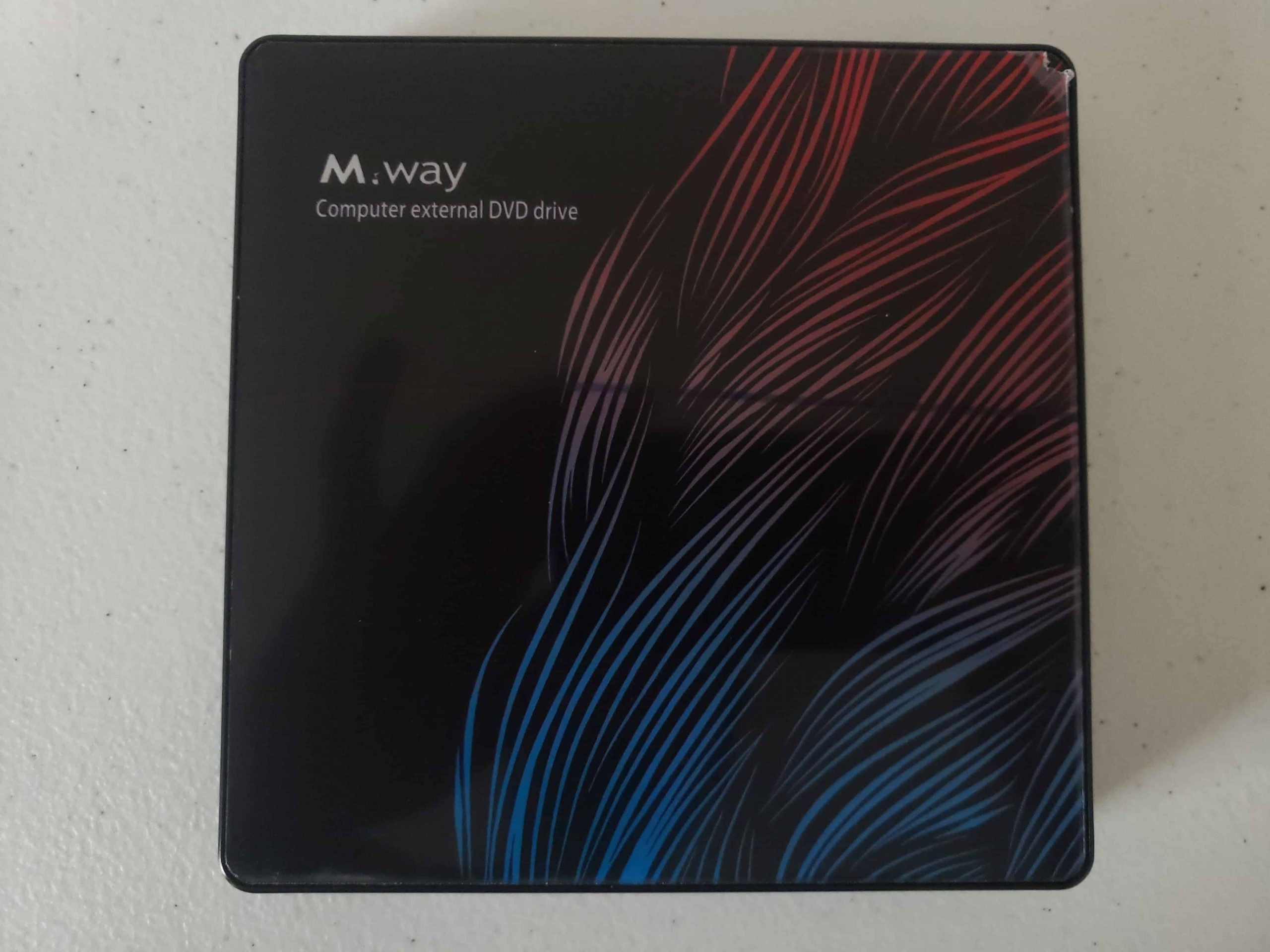 M Way External DVD Drive - Colorful Flame Pattern - 9