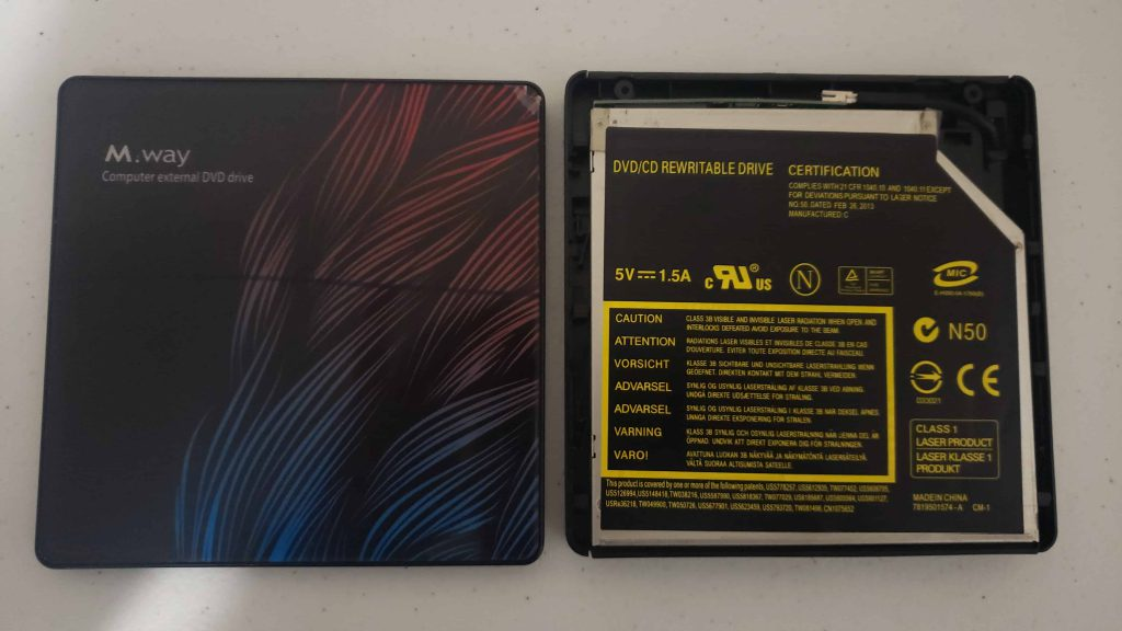 M Way External DVD Drive - Colorful Flame Pattern - Teardown - 2