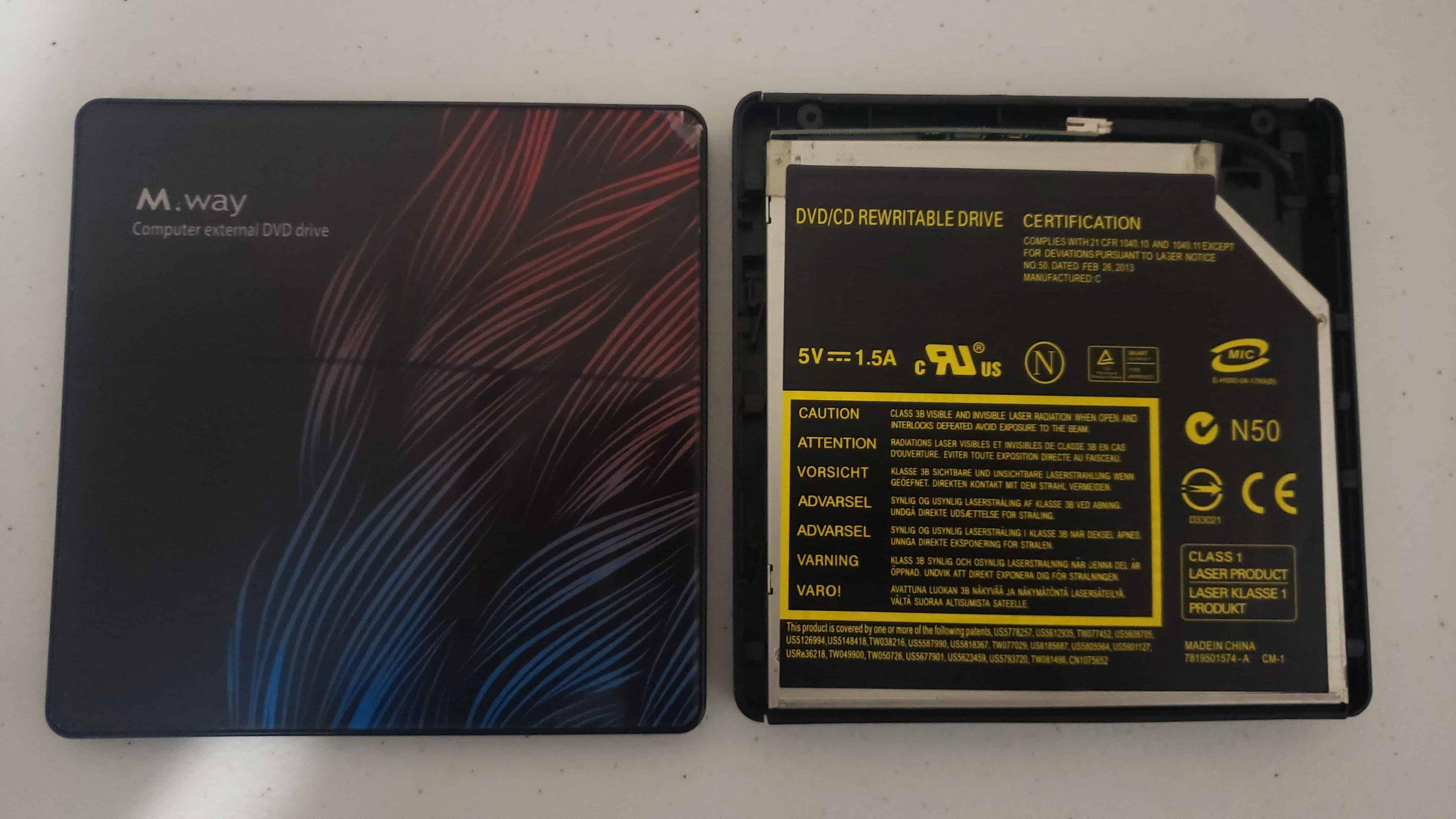 M Way External DVD Drive - Colorful Flame Pattern - Teardown - 2