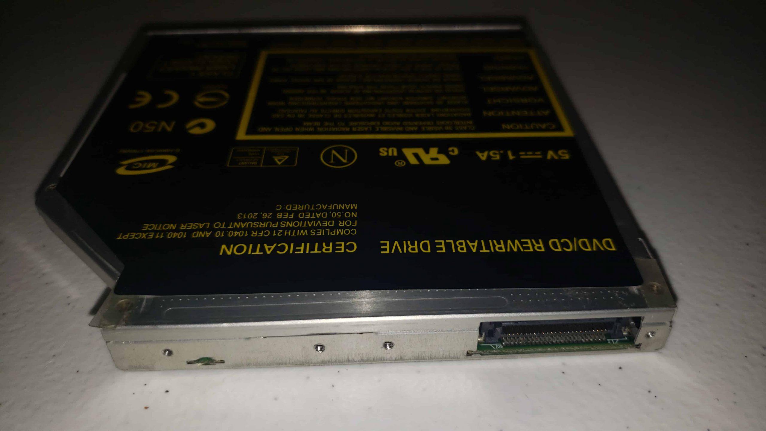 M Way External DVD Drive - Colorful Flame Pattern - Teardown - 7