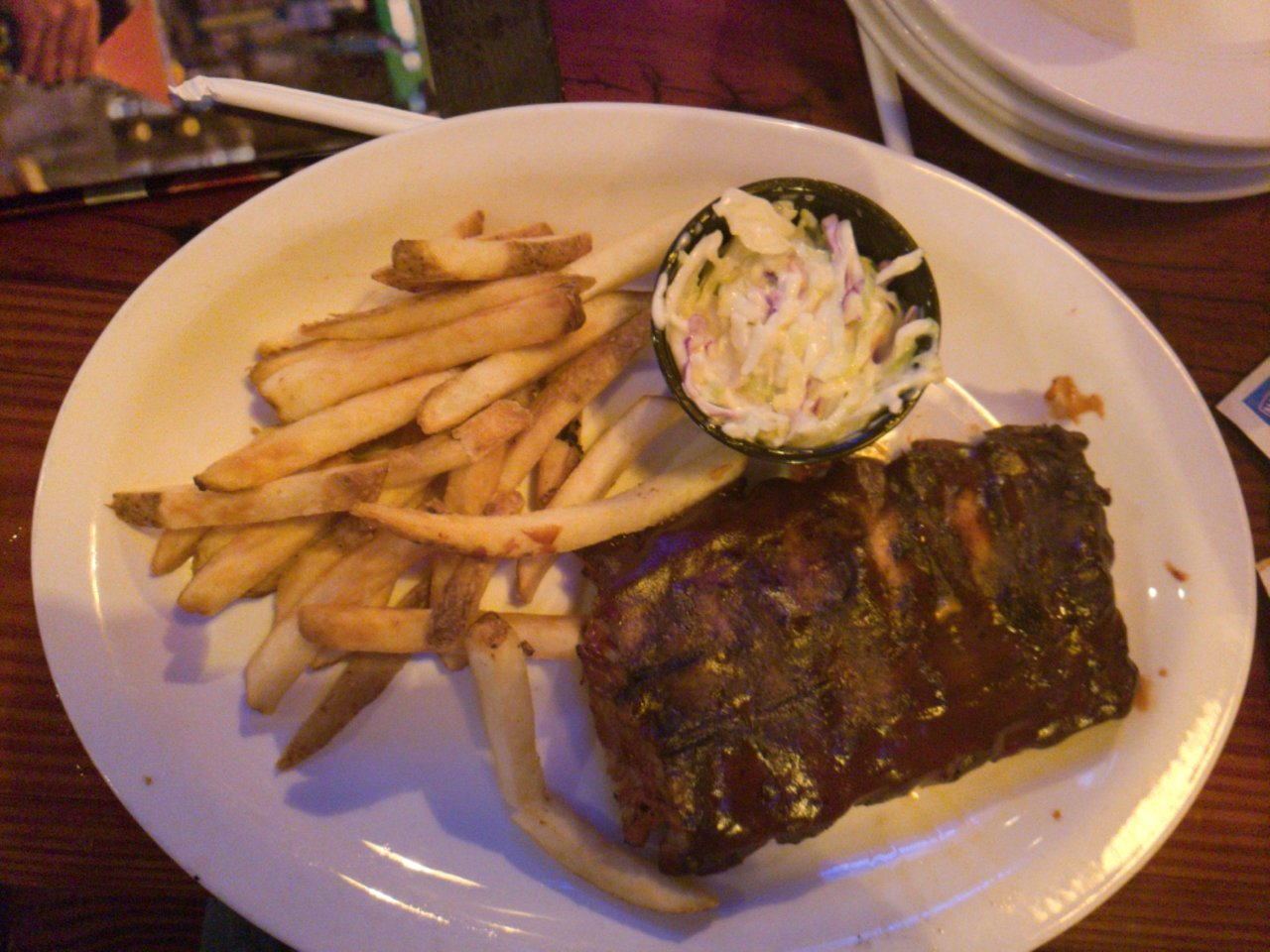 Miller's Ale House - 1-half ribs rack with French Fries