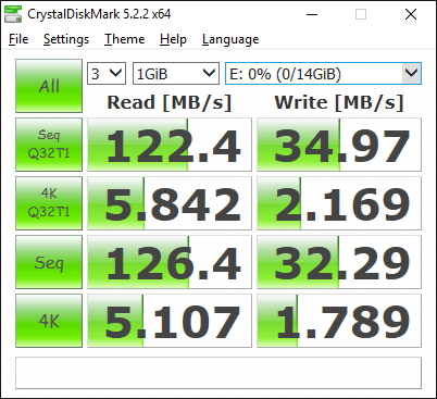 Sandisk Ultra Flair 16GB Benchmark - USB 3.0