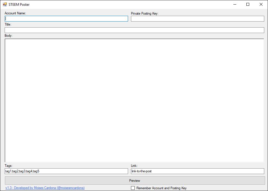 SteemPoster v1.3