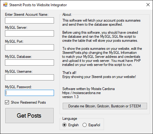 Steemit Posts to Website Integrator v1.3
