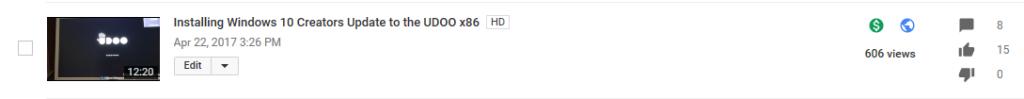 UDOO x86 600+ views