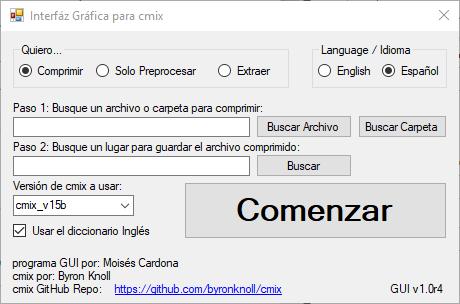 cmix GUI v1.0r4 - Spanish