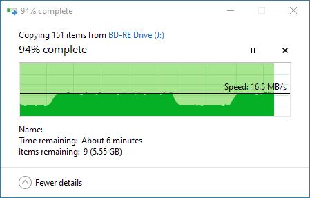 Copying files with Panasonic UJ260