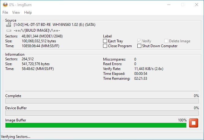 Burning-VERBAT-IMk-000-Verification-Started-2.6x-2