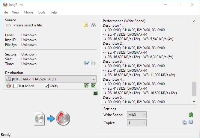 Gigablock DVD+R DL ImgBurn Info 6