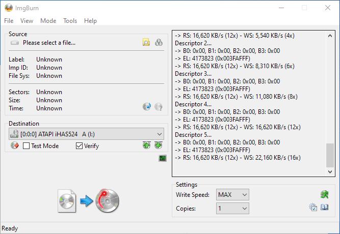 Gigablock DVD+R DL ImgBurn Info 7