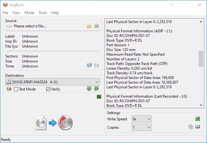 Gigablock DVD+R DL iHAS524 A Info 3