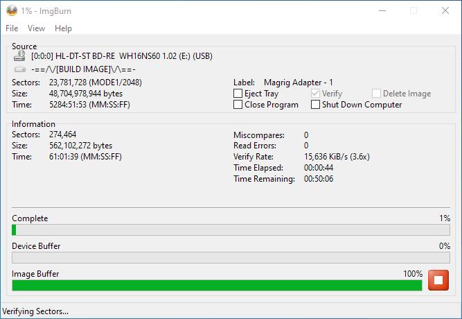 PlexDisc 10pk BD-R DL 50GB ImgBurn Burning 12