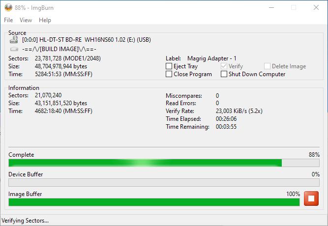 PlexDisc 10pk BD-R DL 50GB ImgBurn Burning 13