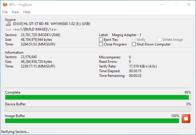 PlexDisc 10pk BD-R DL 50GB ImgBurn Burning 14