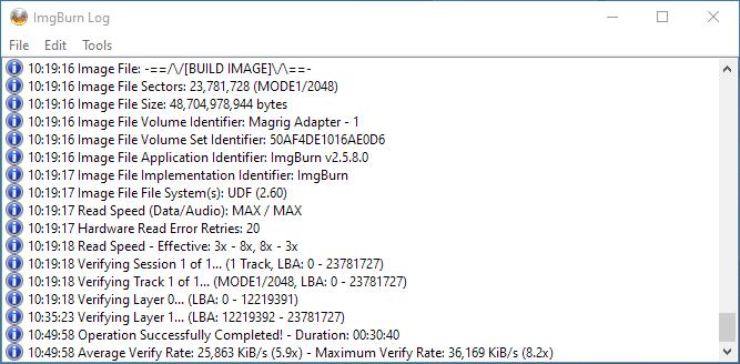 PlexDisc 10pk BD-R DL 50GB ImgBurn Burning 15