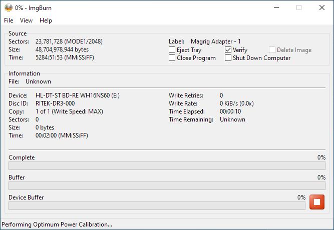 PlexDisc 10pk BD-R DL 50GB ImgBurn Burning 2