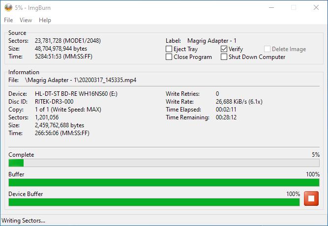 PlexDisc 10pk BD-R DL 50GB ImgBurn Burning 4