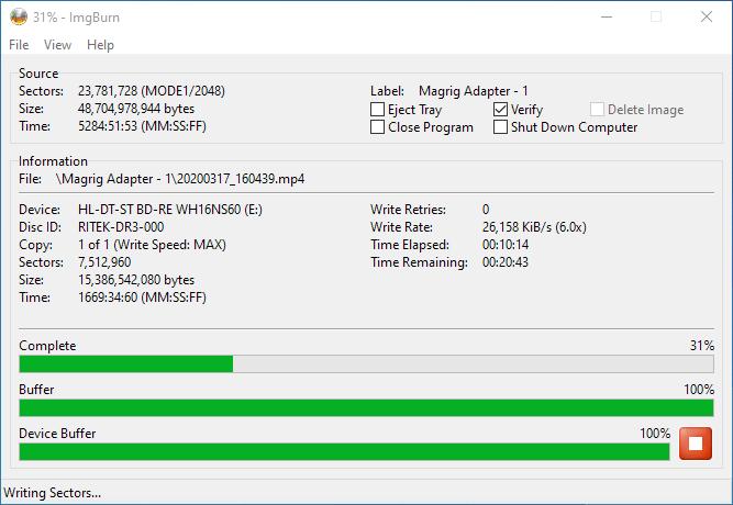 PlexDisc 10pk BD-R DL 50GB ImgBurn Burning 6