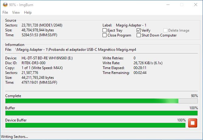 PlexDisc 10pk BD-R DL 50GB ImgBurn Burning 8