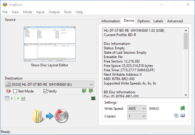 SmartBuy BD-R 25GB 1