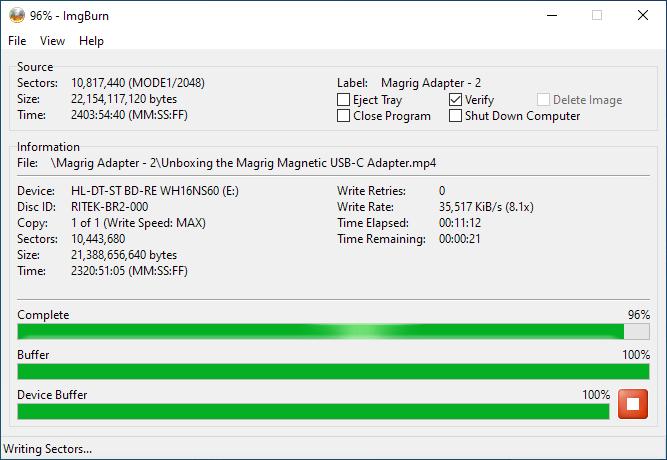 SmartBuy BD-R 25GB Burning 4