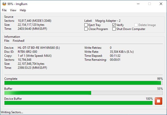 SmartBuy BD-R 25GB Burning 5