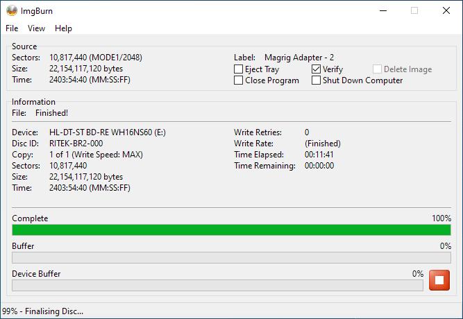 SmartBuy BD-R 25GB Burning 6