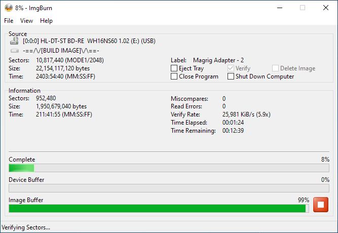 SmartBuy BD-R 25GB Burning 8