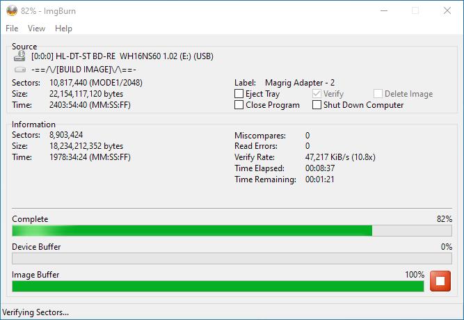 SmartBuy BD-R 25GB Burning 9