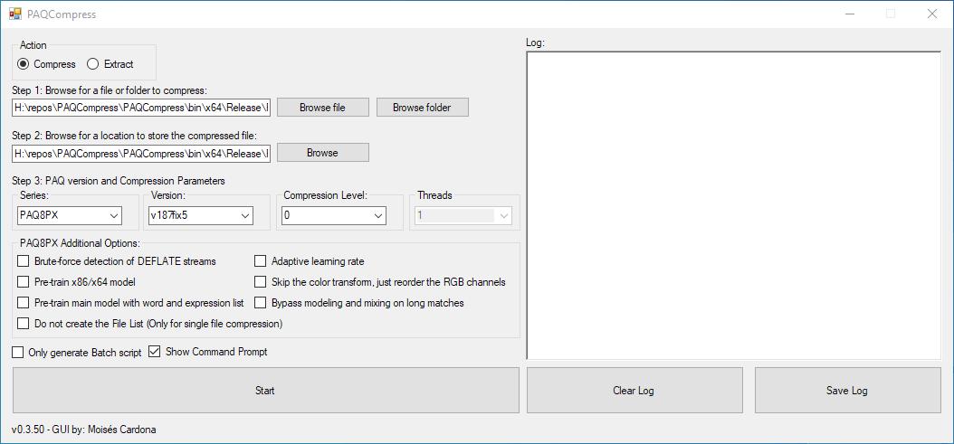 PAQCompress v0.3.50