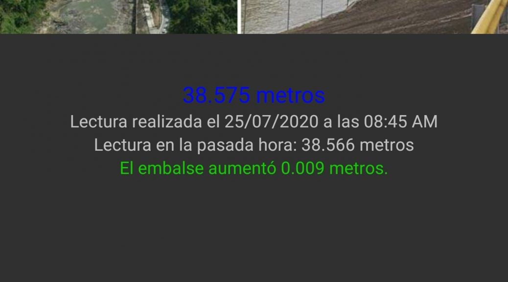 Embalses PR Dark Theme Reservoir Page - Spanish