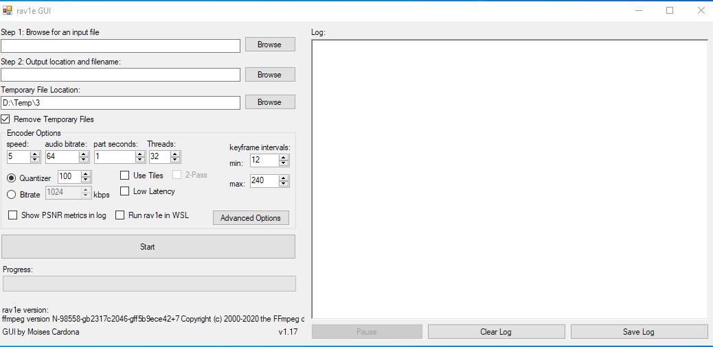 rav1e GUI v1.17