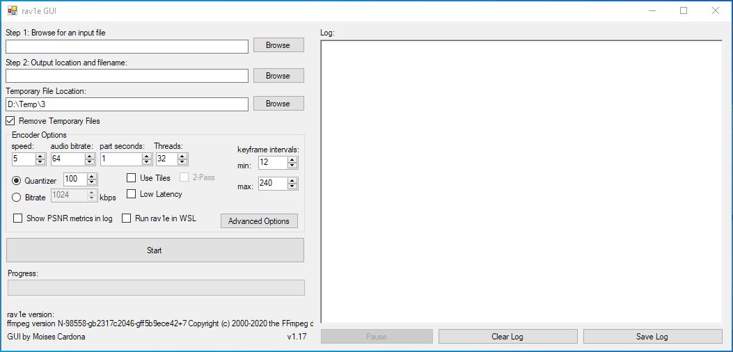 rav1e GUI v1.16