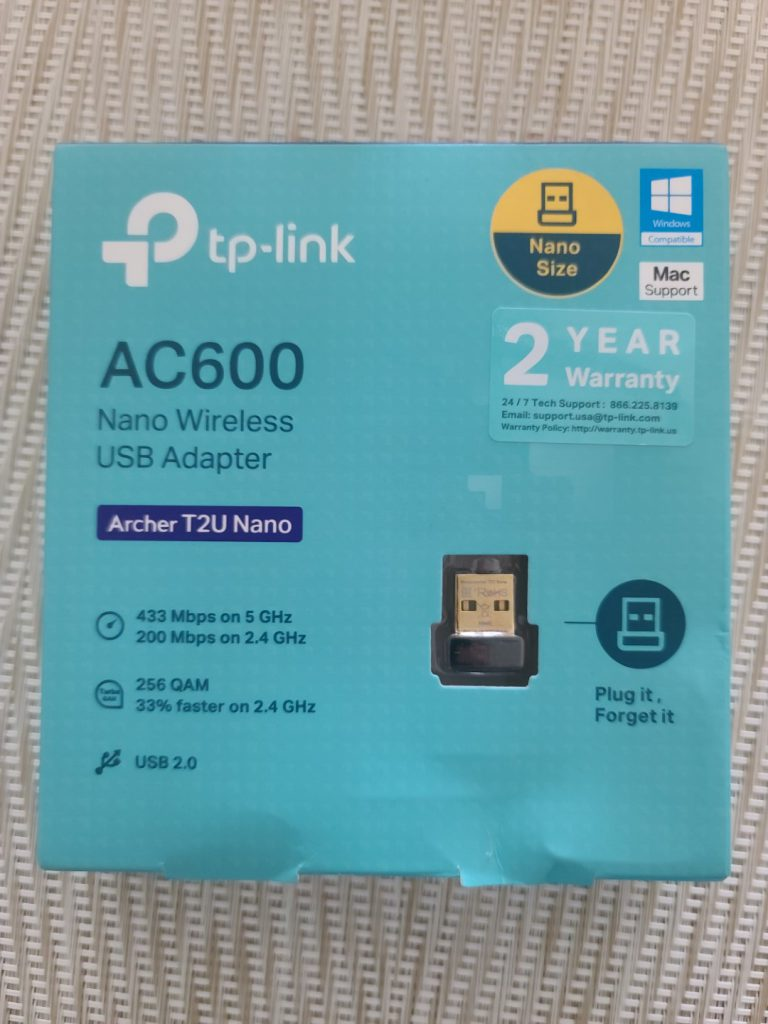 TP-Link Archer T2U Nano AC600 USB2.0 Wireless Adapter 2