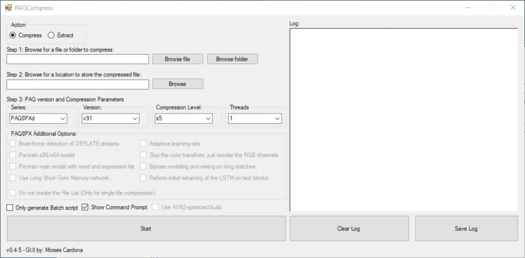 PAQCompress v0.4.5