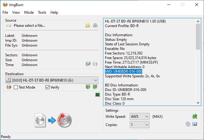 """""""Verbatim"""" BDXL Used Discs 8"""