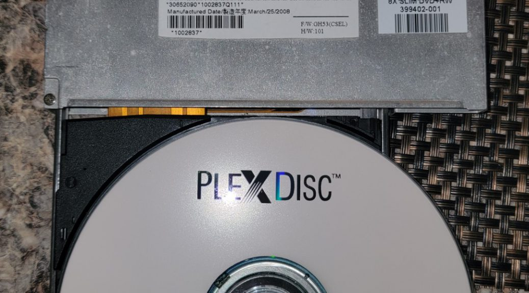 Plexdisc CD-R on Optiarc AD-7561A