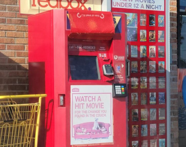 Redbox on a Dollar General in Cedar Key, Florida.