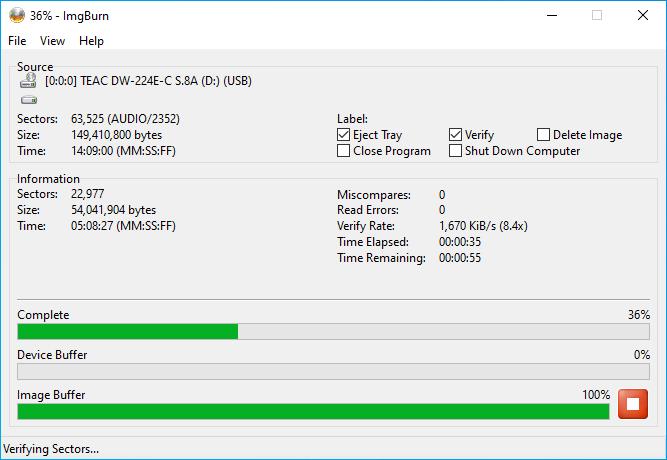 Verbatim CD-RW 12x 10