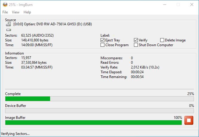 Verbatim CD-RW 12x 7