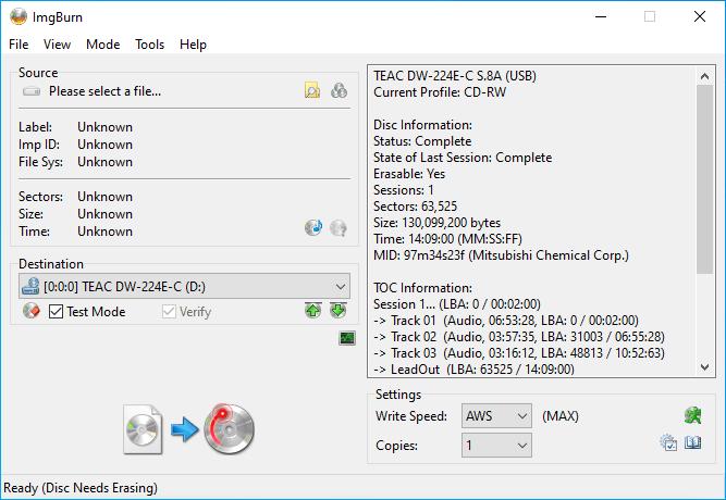 Verbatim CD-RW 12x 9