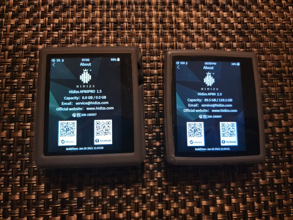 Hidizs AP80 and AP80 Pro MQA update
