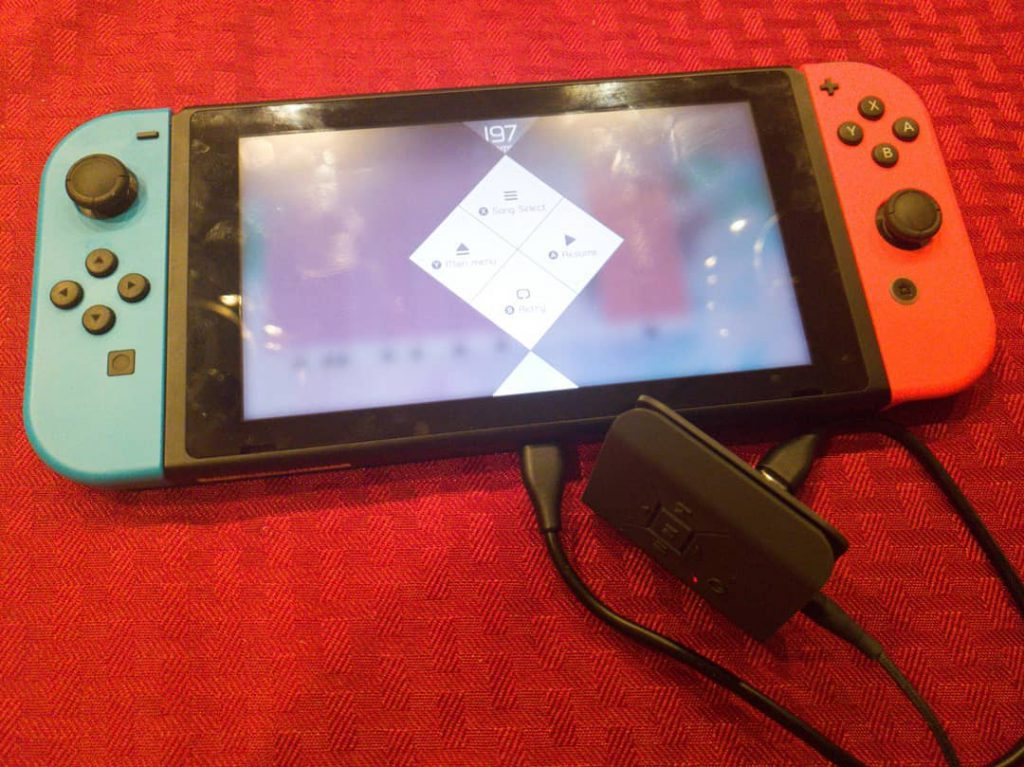 Nintendo Switch with the Tunai Square DAC connected