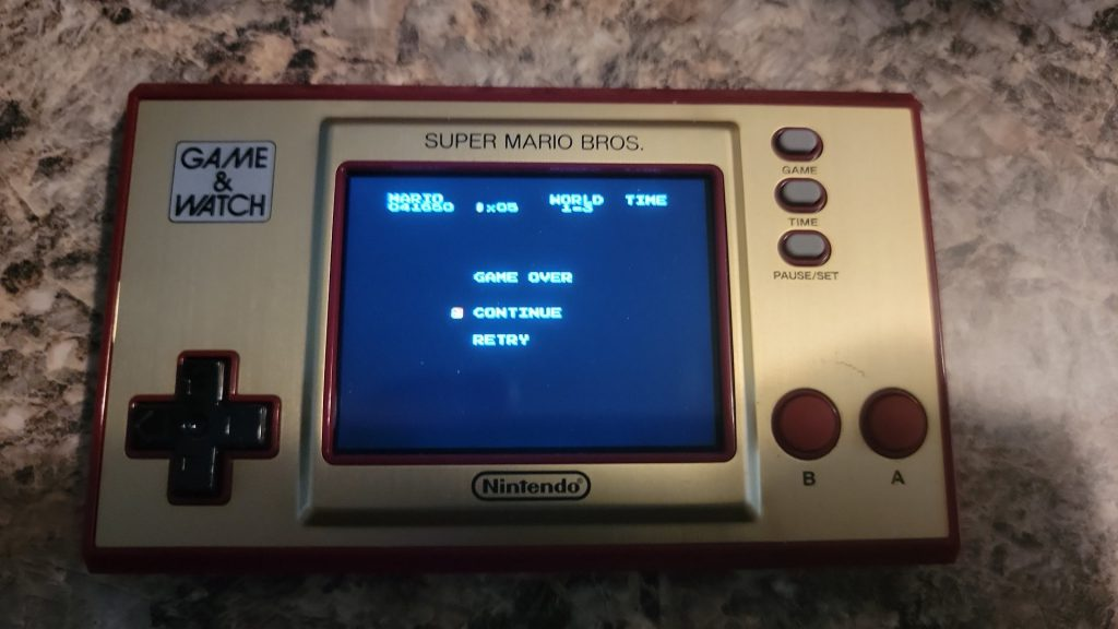 Game&Watch Super Mario Edition - Lost Levels Game Over