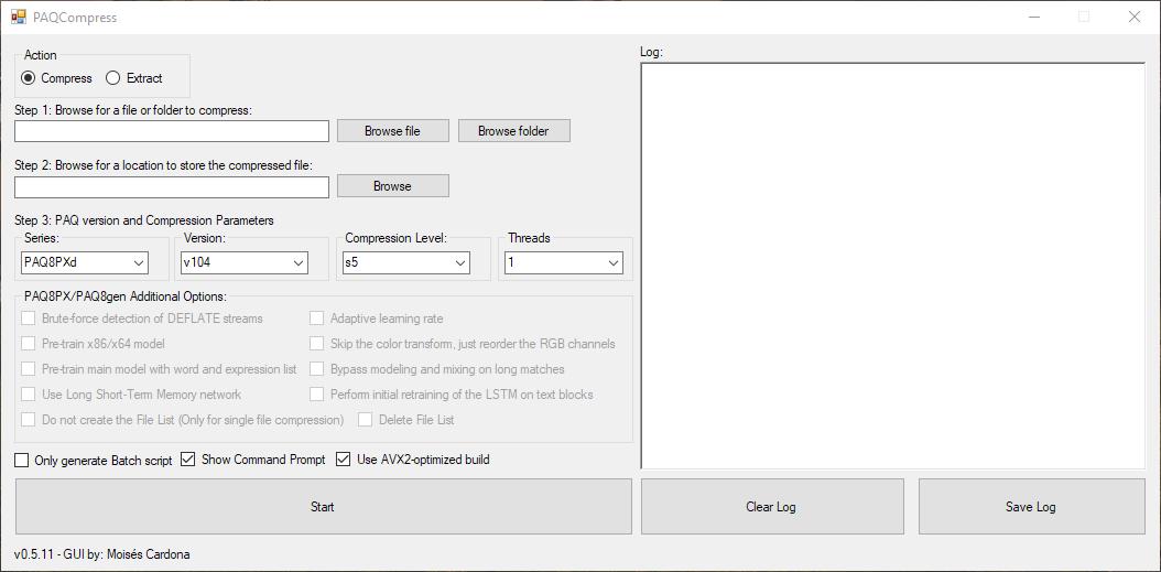 PAQCompress v0.5.1