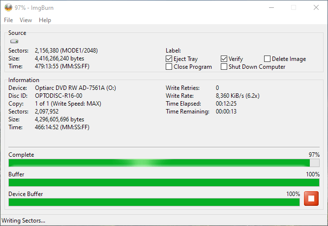 PlexDisc OPTODISC-R16-00 Optiarc AD-7561A 5