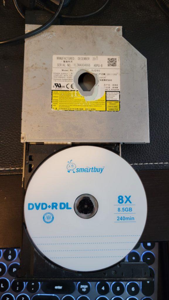 Panasonic UJ-260 with SmartBuy DVD+R DL