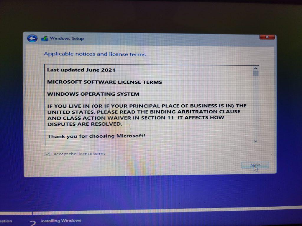 Installing Windows 11 Part 2 7