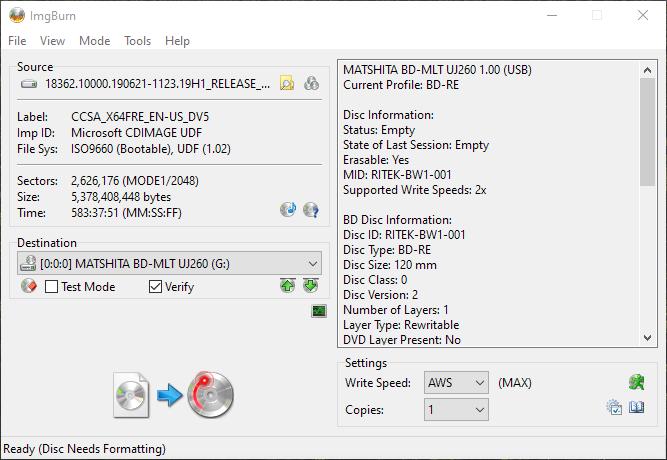 RITEK-BW1-001 Panasonic UJ260 1